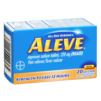Aleve Pain Reliever/Fever Reducer Gelcaps - 20 CT