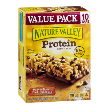 Nature Valley Protein Chewy Bars Value Pack Peanut Butter Dark Chocolate - 10 CT