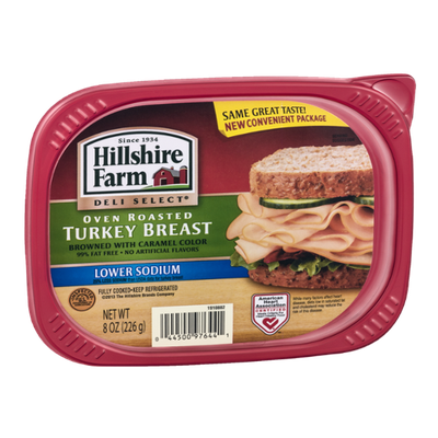 Hillshire Farm Deli Select Oven Roasted Turkey Breast Lower Sodium