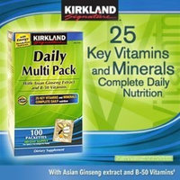 Kirkland Signature Kirkland Daily Multivitamin Pack With Energy Boosting Nutrients, 100 Packets.