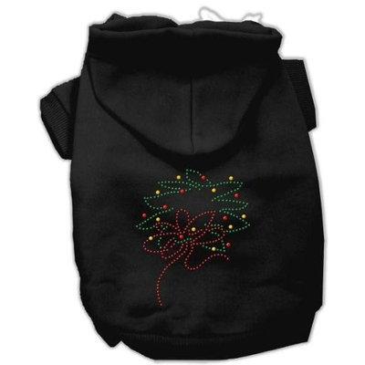 Mirage Pet Products 542515 MDBK Christmas Wreath Hoodie Black M 12
