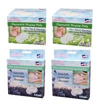 Nuangel, Inc. NuAngel All-Natural White Biodegradable Disposable Cotton Nursing Pad Set