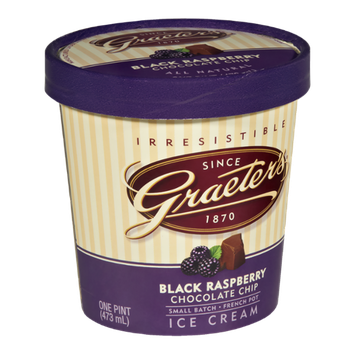 Graeter's Black Raspberry Chocolate Chip Ice Cream