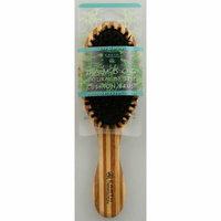 Earth Therapeutics Regular Bamboo Natural Bristle Cushion Brush 1 Brush