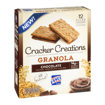 Cracker Creations Granola Chocolate Filled - 6 CT