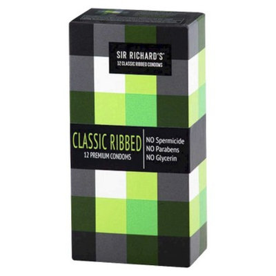 Sir Richard's Classic Ribbed Condoms - 12 Count