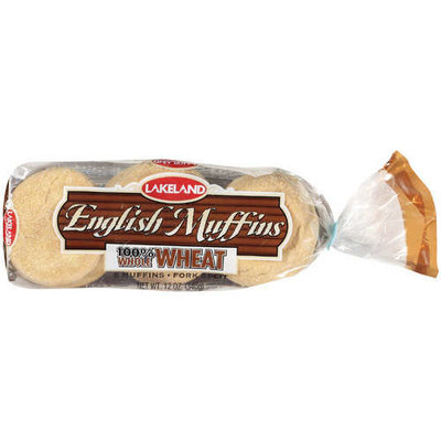 Lakeland 100% Whole Wheat English Muffins, 12 oz