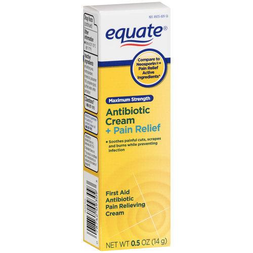 Equate Antibiotic Plus Pain Relief Maximum Strength Cream, .5 oz