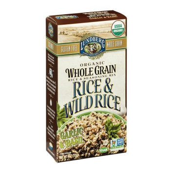 Lundberg Family Farms Rice & Wild Rice, Garlic & Basil, 6 OZ (Pack of 6)