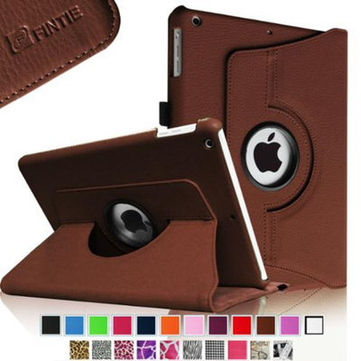 Fintie Rotating Stand Case Cover with Auto Sleep / Wake Feature for iPad Air / iPad 5 (5th Generation), Brown