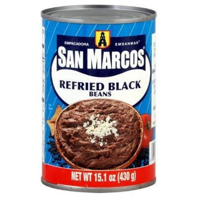 San Marcos Refried Black Beans, 16-Ounce (Pack of 12)