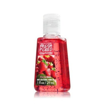 Bath Body Works Bath and Body Works PocketBac Anti Bacterial Hand Gel Fresh Picked Strawberry, 1 oz