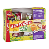 Lunchables with Fruit Flatbread Sandwich Grape PB&J