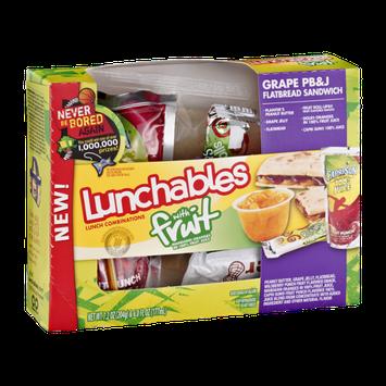 Lunchables With Fruit Flatbread Sandwich Grape Pb&J Flatbread Sandwich