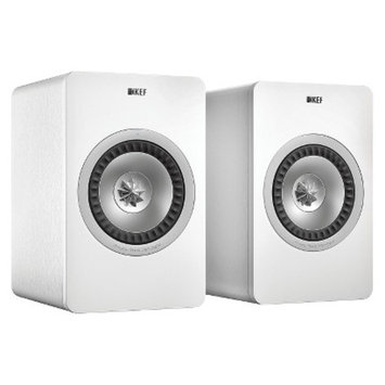 KEF X300A Wireless Speakers with Built-In Amplification - White