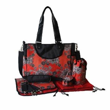 House of Botori Amara Shoulder Bag Twirl Diaper Bag, Terracotta, 1 ea