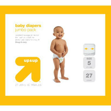 up & up Baby Diapers Jumbo Pack - Size 5 (27 Count)