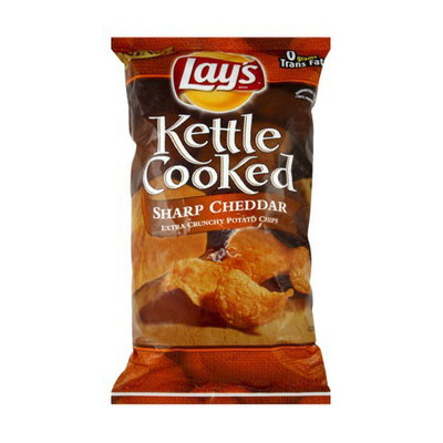 Lay's Kettle Cooked Sharp Cheddar Potato Chips 8.5 oz