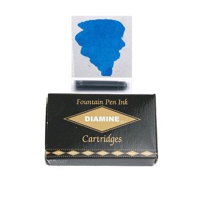 Pk/18 DIAMINE Fountain Pen Ink Cartridges, MEDITERRANEAN BLUE