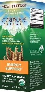 Fungi Perfecti / Host Defense CORDYCEPS (Cordyceps sinensis) Fungi Perfecti/Host Defense 2 oz Liquid