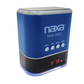 Naxa Electronics Naxa NAS3053BL Portable Speaker With USB Fm Radio & Led Display -blue