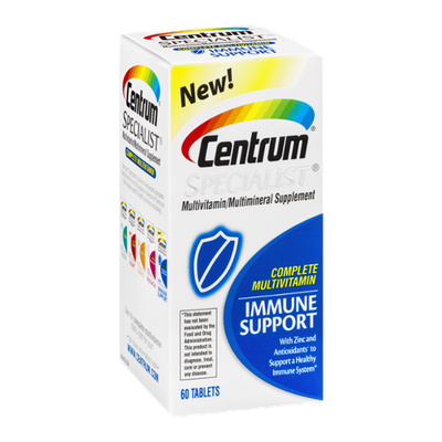 Centrum Specialist Multivitamin/Multimineral Supplement Immune Support Tablets - 60 CT