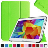Fintie Smart Shell Case Ultra Slim Lightweight Stand Cover for Samsung Galaxy Tab 4 10.1 Tablet, Green