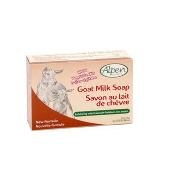 Alpen Secrets Exfoliating Goat Milk Soap with Oatmeal, 5-Ounce (Pack of 4)