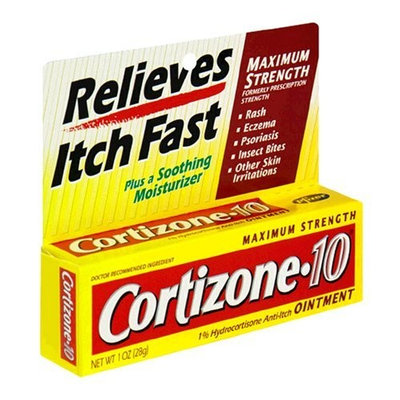 Cortizone-10 Hydrocortisone Anti-Itch Cream, Maximum Strength, 1 oz (28 g)