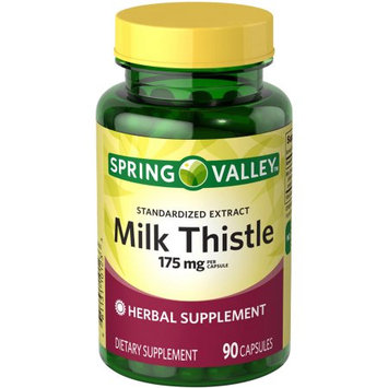 Spring Valley Milk Thistle Dietary Supplement Capsules, 175mg, 90 count