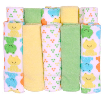Cuddletime 10 Pack Frogs Washcloth Set - TRIBORO QUILT MFG. CORP.