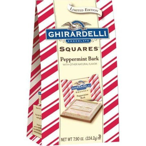 Ghirardelli Chocolate Peppermint Bark Squares Holiday Gift, 7.9 oz