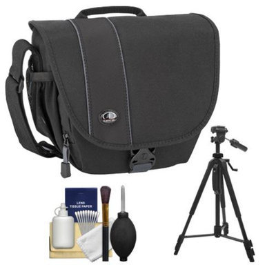Tamrac 3446 Rally 6 Digital SLR Camera Case (Black) with Deluxe Photo/Video Tripod + Accessory Kit