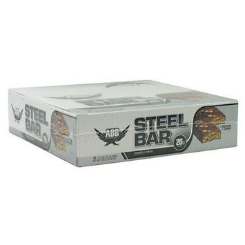 American Body Building Steel Bar, Cookies and Cream, 2.5 oz. Bars, 12-Count