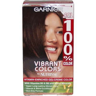 100% Color Vitamin Enriched Gel-Creme Color #401 Deep Brown By Garnier