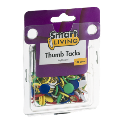 Smart Living Thumb Tacks - 100 CT