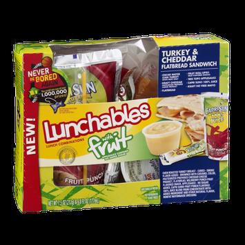 Lunchables With Fruit Flatbread Sandwich Turkey & Cheddar