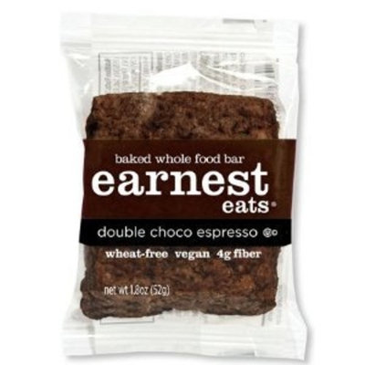 Earnest Eats 100% All-Natural Wheat-Free & Vegan Chewy Baked Energy Bars with Whole Nuts, Fruits, Seeds and Grains - Double Choco Espresso , 1.8 Oz. Bars,(Pack of 12)