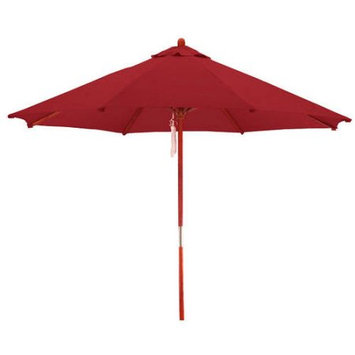 Lauren & Company Round Brick Red Patio Umbrella with Pulley (Common: 108-in; Actual: 108-in) LCUD003R-BRICK