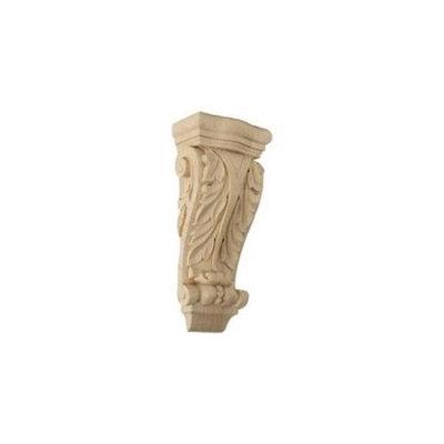 Ekena Millwork 4.5-in x 10-in Alder Acanthus Wood Corbel