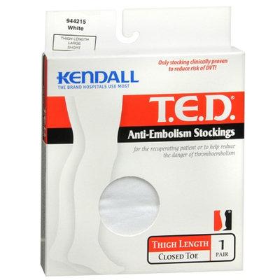 T.E.D. Anti-Embolism StockingsThigh Length Closed Toe White