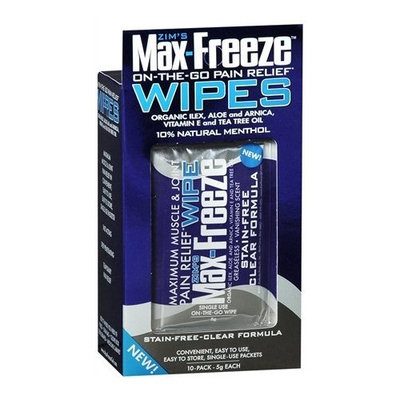 Zim's Max-freeze Max-Freeze On-The-Go Pain Relief Wipes, 10 ea