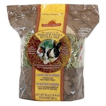 Sunaturals Sun Seed Company SSS88054 9-Pack Sunnatural Select Summer Sweet Small Animal Alfalfa Hay, 20-Ounce