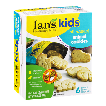 Ian's Kids Animal Cookies - 6 PK