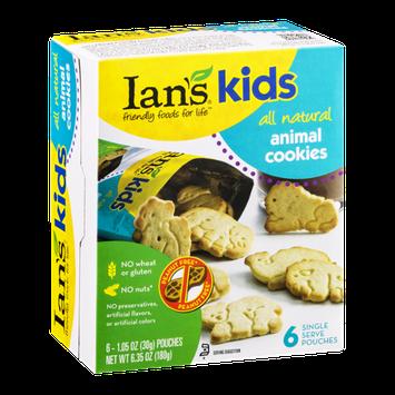 Ian's Kids Animal Cookies - 6 PK