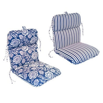 Jordan Outdoor Reversible Conversation/Deep Seating Cushion - Blue/White