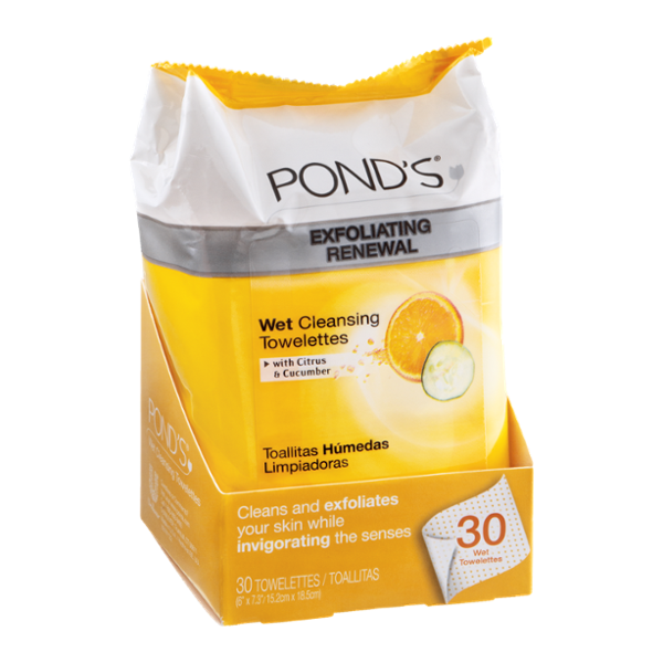 Pond's Exfoliating Renewal Wet Cleansing Towelettes 30 ct