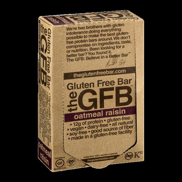 GFB The Gluten Free Bar Oatmeal Raisin - 12 CT