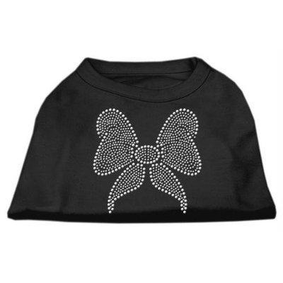Mirage Pet Products 5215 XXXLBK Rhinestone Bow Shirts Black XXXL 20