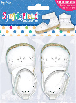 Fibre Craft FC303449 Springfield Collection Epadrilles-White